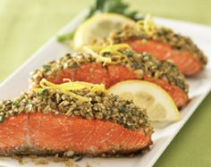 Recipe: Chipotle and Pumpkin Seed-crusted Medallions of Wild Salmon