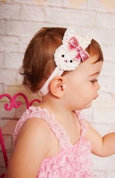 Easter Bunny Headband Baby Headband Shabby Headband Toddler Girl Rabbit on Etsy, $7.95