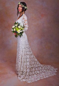 7d4d996a57 Brigitte Crochet Wedding Dress
