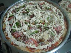 Receita de Massa super rápida de pizza crocante - Tudo Gostoso