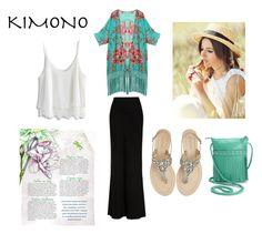 """KIMONO STYLE"" by emily-677 ❤ liked on Polyvore featuring ILI, Chicwish, Antik Batik, Alexander McQueen and kimonos"