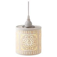 Can inspired pendant light with cut out details