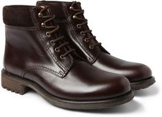 Rangers Leather and Suede Boots - Lyst