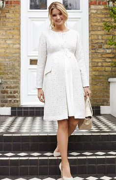 Verity Maternity Coat Ivory Ice Bouclé - Maternity Wedding Dresses, Evening Wear and Party Clothes by Tiffany Rose UK Source by clothes Winter Maternity Outfits, Stylish Maternity, Maternity Fashion, Pregnancy Fashion Winter, Pregnant Outfit, Pregnant Wedding Dress, Maternity Wedding, Maternity Work Clothes, Maternity Skirt