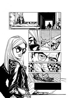 Lady Killer comic book Original Joëlle Jones pages from Mockingbird now on sale. Comic Book Layout, Comic Book Pages, Comic Book Characters, Comic Books Art, Black And White Comics, Black Comics, Bd Comics, Comic Drawing Styles, Comic Styles
