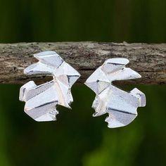 Handmade Silver 925 Origami Style Bunny Earrings - Origami Rabbit | NOVICA