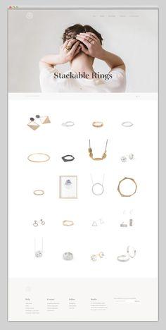 Creative Web, Design, Websites, Website, and Webdesign image ideas & inspiration on Designspiration Website Layout, Web Layout, Layout Design, Site Design, Ux Design, Minimalist Web Design, Best Jewelry Designers, Email Design, Web Design Inspiration