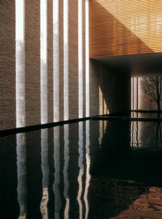 Genesis Building in Singapore - by Kerry Hill Space Architecture, Architecture Details, Kerry Hill Architects, Indoor Outdoor, Outdoor Living, Pool Water Features, Swimming Pool Designs, Patio, Architectural Elements