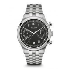 Reloj Bulova Fechador  Carátula negra Modelo 96B234