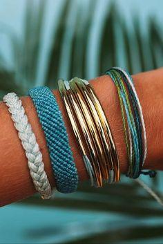 Pura Vida Bracelets are all handmade in Costa Rica.