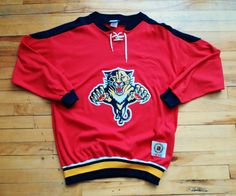Vintage Florida Panthers CCM Hockey Sweater NHL VTG a56ab6ecc
