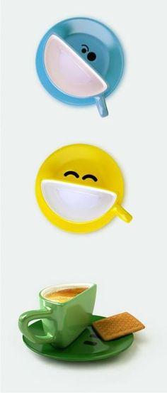 Conjunto Xícara + Pires Smile :D    por http://www.facebook.com/comunicadores.info