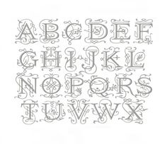 4 inch Embroidery Font Ornament Serif Font by HerringtonDesign