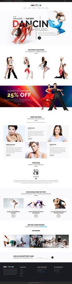 Best City Dancing Studio #Wordpress #template. #themes #business #responsive #Wordpressthemes