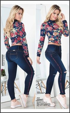 Lindo Jean Levantacola Ref: Curvy Outfits, Hot Outfits, Casual Outfits, Fashion Outfits, Stylish Jeans, Sexy Jeans, Skinny Jeans, Sexy Leggings Outfit, Fiesta Outfit