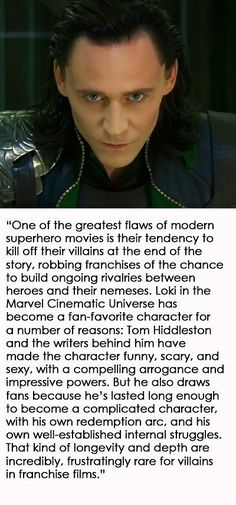 He has more character development than some of the hero's for gods sake!!!!!!!