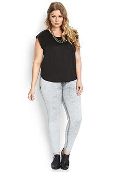 Acid Wash Skinny Jeans | FOREVER21 PLUS - 2000088301