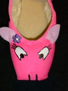 decorated pointe shoe  pig by PointePerfection1 on Etsy, $15.99