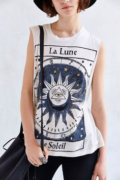 astrology shirt Title Unknown La Lune Foiled Muscle Tee