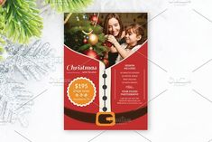 Christmas Mini Session Template-V427 by Template Shop on @creativemarket Christmas Flyer, Christmas Minis, Modern Christmas, Christmas Holidays, Holiday Mini Session, Christmas Mini Sessions, Flyer Design Templates, Flyer Template, Photo Folder