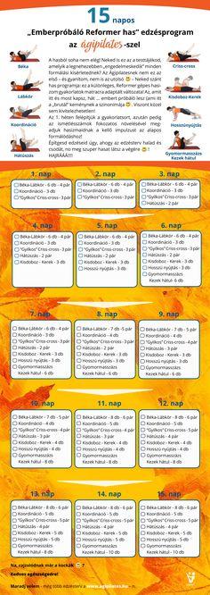 15 napos, brutál, Pilates Reformer hasblokk | Ágipilates Pilates Reformer, Slim Body, Reiki, Health Fitness, Workout, Sports, Sneaker, Challenge, Vans