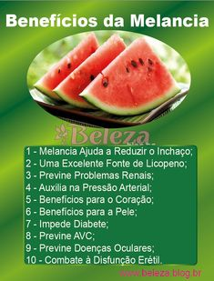 Beneficios da Melancia
