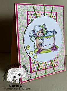 My Besties Baby in a Teacup Handmade Card by PauseDreamEnjoy on Etsy