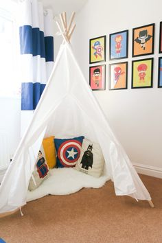 Super hero bedroom tour. Loads of simple superhero bedroom ideas for kids… - visit to grab an unforgettable cool 3D Super Hero T-Shir                                                                                                                                                                                 More