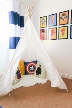 Super hero bedroom tour. Loads of simple superhero bedroom ideas for kids… - visit to grab an unforgettable cool 3D Super Hero T-Shir                                                                                                                                                                                 More