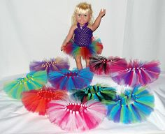 Party Pack of 5 Create Your Own Doll Tutus - Fits American Girl Dolls, My Generation Dolls, and Baby Dolls We can make these!  Super Cute!