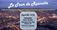 Le Tour de Roanoke - Taste the best of Roanoke by bike on April Local Eatery, Tap Room, East Coast, Tours, Good Things, Bike, Activities, Bicycle, Cruiser Bicycle