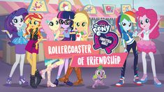"""My Little Pony Equestria Girls: Rollercoaster of Friendship"" - :: Via New On Netflix AUS/NZ Rarity gets a summer job at Equestria Land, making Applejack feel jealous. But when their friends start vanishing, they must work together to find them. Friendship Games, Girl Friendship, Rainbow Rocks, Rainbow Dash, My Little Pony Bedroom, Mlp Twilight Sparkle, Netflix, Hasbro Studios, Pony Wall"