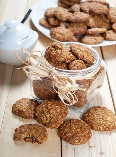 Photo of pot full of diet and healthy cookies stock photo - 20561197 Biscotti Cookies, Biscotti Recipe, Sugar Free Desserts, Vegan Desserts, Healthy Cookies, Cata, Italian Recipes, Sweet Recipes, Cookie Recipes