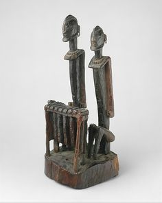 Pair of Balafon Players Date: 18th–early 19th century Geography: Mali Culture: Dogon peoples Medium: Wood, metal