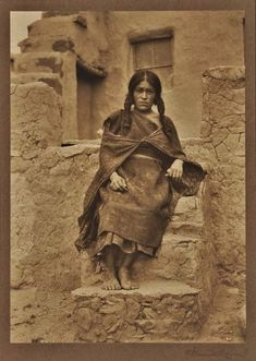 Lekyahonase at Oraibi Village (aka Third Mesa) in Arizona - circa 1890 - found in FB - Native American Indian - Old Photos