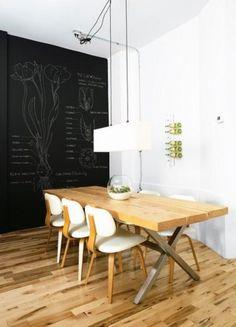 Algunas ideas para utilizar pintura pizarra en casa