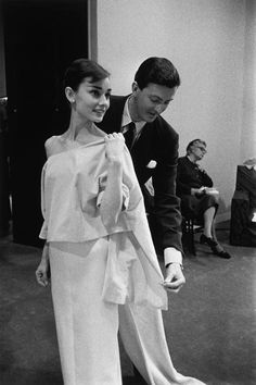 David Seymour  French fashion designer Hubert de GIVENCHY and Dutch actress Audrey HEPBURN, for whom he created a wardrobe for the film.