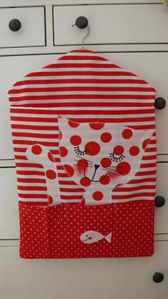 Nursery Bag, Textiles, Sewing Crafts, Sewing Ideas, Cat Lovers, Children, Kids, Applique, Holiday Decor