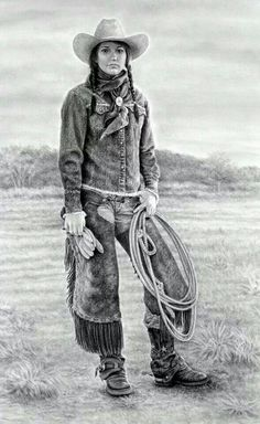 Carrie Ballantyne Technique | Cowgirls and Western Art on Pinterest | Cowgirls, Cowboy Art and Hors ...