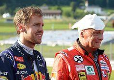 Sebastian Vettel & Nikki Lauda