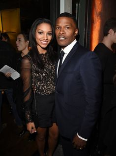 Jamie Fox and his daughter Corinne at the InStyle Miss Golden Globe party.