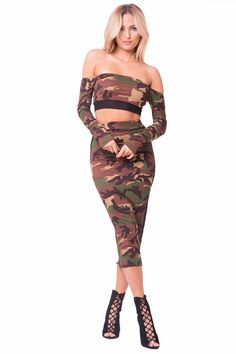44700b627 Royal Regalia Clothing Line · MIDI Camouflage Skirt Online Clothing  Boutiques, Summer Wear, Camo Stuff, Camouflage, Midi