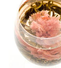工芸茶専門店クロイソス 「マザーオブラブ~MotherOfLove~」   大輪のカーネーションが母への愛を伝えます。 大きなガラスのポットでお楽しみください。  茶種:緑茶 花種:カーネーション 産地:中国福建省   ¥360 http://mercure.shop-pro.jp/?pid=21550187