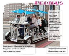 The Pedibus London Tours are the most entertaining and fun way to spend an hour in London with friends, colleagues or people you have just met. Perfect for parties, team building and things to do in London. Pop Up Restaurant, Restaurant Ideas, Beer Bike, London Eats, Online Calendar, Cool Pops, London Tours, Beer Festival, Things To Do In London