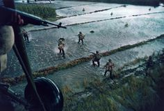 Larry Burrows Dropping of troops, Mekong Delta, 1962