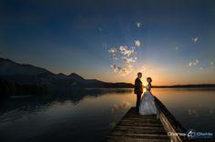 Hochzeitsfotografie Sonnenuntergang Kochel am See