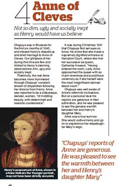 anne of cleves scan March 2014 issue of BBC History