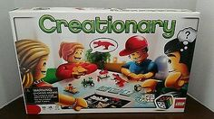 2010 LEGO CREATIONARY Game Building Set Retired 100% COMPLETE