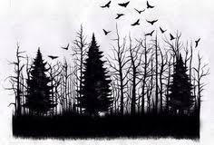 Afbeeldingsresultaat voor forest tattoo drawing