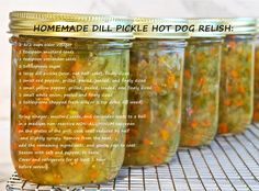 Homemade Pickled Hot Dog Relish